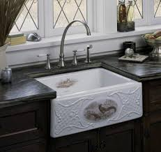 fireclay farmhouse sink. Tidings Game Birds Design On Alcott Fireclay Sink From Kohler Farmhouse 3