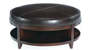 round leather ottoman. Round Leather Ottoman Coffee Table Ottomans Cocktail Inside Regarding Your Own Home Costco O