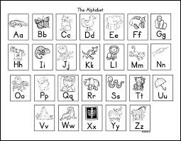 Alphabet Chart Black And White Alphabet Chart For Students Free Alphabet Charts