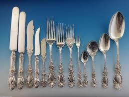 exceptional massive lucerne by wallace sterling silver dinner size flatware set 205 pieces in original
