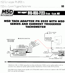 still can t figure out tach adapter wiring com msd tach adapter p n 8920 wire it like this
