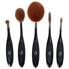 bmc 5pc luminous perfecting curve makeup brush kit for contouring blending more walmart