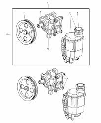 52113364ak genuine mopar pump power steering with pulley 2006 dodge 2500 steering diagram 2006 dodge ram