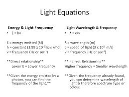 10 light equations energy light frequency