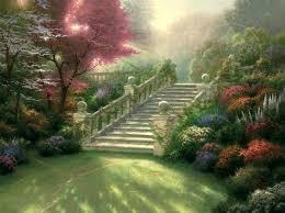 thomas kinkade garden of prayer stairway to paradise thomas kinkade garden of prayer painting
