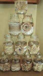 Decorating With Mason Jars And Burlap Burlap And Lace Mason Jar Centerpieces Burlap Lace Mason Jars 59