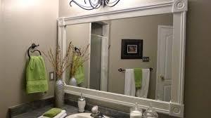 white bathroom vanity mirrors. Minimalist White Vanity Mirror Diy Bathroom Frame Ideas Framed Mirrors