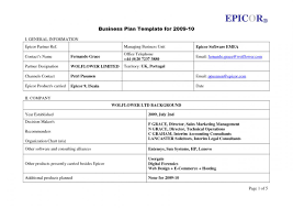 Basic Business Plan Template Simple Business Plan Template Free Shatterlion Info