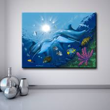 shop ready2hangart david dunleavy kissing dolphins canvas wall art on sale free shipping today overstock 9550322 on dolphin canvas wall art with shop ready2hangart david dunleavy kissing dolphins canvas wall art