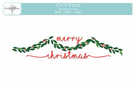 Shop online for christmas garlands including pine garlands, fir garlands and leaf clusters. Christmas Garland Svg Dxf Png 146275 Cut Files Design Bundles