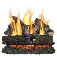 pleasant hearth 30 in 65000 btu dual burner vented gas fireplace logs