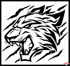 як малювати трайбл татуювання тигра поетапно