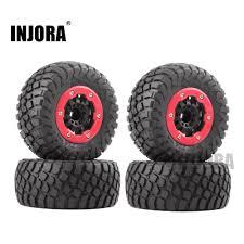 INJORA <b>4PCS RC Car</b> Rubber <b>Tire</b> & <b>Wheel Rim</b> Set for 1/10 Short ...