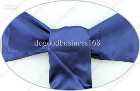 whole new navy blue satin chair sashes bows 15cmx275cm wedding pearl wedding belt white wedding chair covers from dogoodbusiness168 91 45 dhgate com