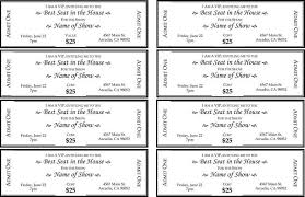 Fundraiser Ticket Template Free Download Enchanting 48 Ticket Templates Free Download