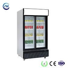 upright sliding glass door soft drink display refrigerator lg 1000s