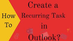 recurring task in outlook