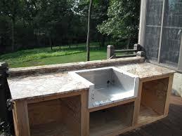 build outdoor sink cabinet ideas