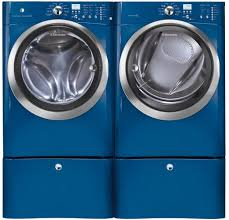 blue washer and dryer. Plain Blue Blue Electrolux IQTouch Series EIFLS55IMB  Washer And Dryer  SideBySide With Intended And