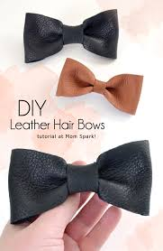 diy leather hair bows tutorial