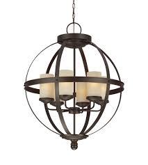 sea gull 3190406en3 715 sfera 6 light 25 inch autumn bronze chandelier ceiling light photo