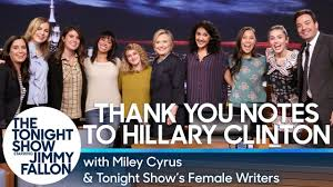 Miley Cyrus & Tonight Show's Female Writers Read Thank You ...
