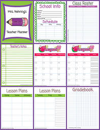 Grade Book Template Microsoft Word Printable Teacher Planner Scholastic