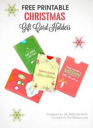 Gift Cards For Christmas Free Holiday Gift Card Holder Printables Christmas Gift