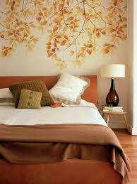 autumn romance bedroom wall design creative decorating ideas