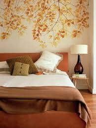 autumn romance bedroom wall design creative decorating ideas