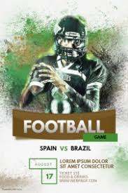 football flyer templates customize 1 070 football poster templates postermywall