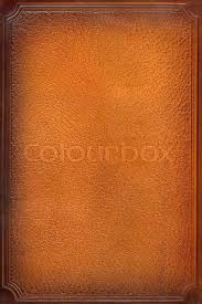 brown leathercraft tooled vine book cover with texture and border stock photo colourbox