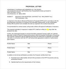 Free 17 Sample Proposal Letter Templates In Pdf Doc
