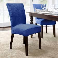 quickcover damask embossed stretch velvet 1 piece dining chair slipcover