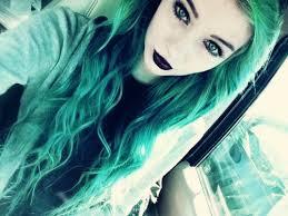 make up long hair goth emo scene scene scene hair emo green hair
