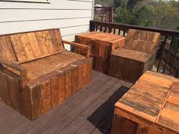 unique pallet furniture. pallet woord deck chairs and storage by therusticpalletstore unique furniture