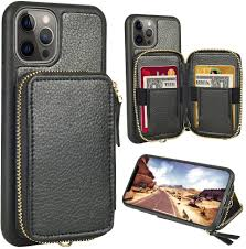 Amazon.com: ZVE Wallet Case Compatible with iPhone 12 Pro Max 5G, Wallet  Case with Card Holder Slot Wrist Strap Handbag Protective Leather Cover  Design for 2020 iPhone 12 Pro Max, 6.7 inch - Black