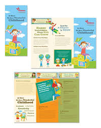 tri fold school brochure template child development school tri fold brochure template kids