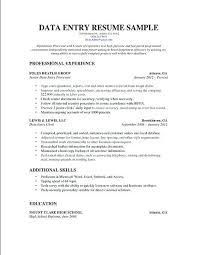 Best Solutions Of Data Entry Resume Objectives Clerical Resume