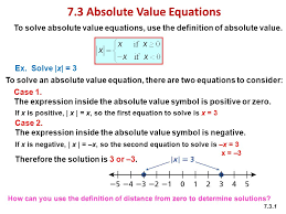 7 3 absolute value equations