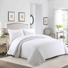 3pcs 100 cotton quilt set bedspread bedspreads lightweight bed coverlet set king oversize white
