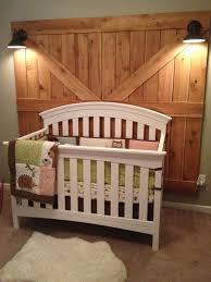 Rustic Barn Door Headboard Diy Cream Polished Wooden King Size Bed ...