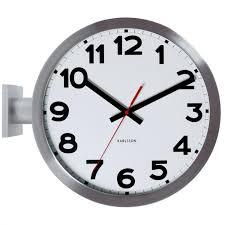 karlsson wall clock aluminium designer home art modern style decor double sided