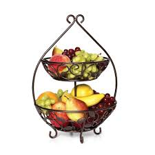 tier basket stand tiered fruit two baskets . tier basket stand 3 fruit ...