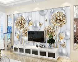 Beibehang مخصصة خلفيات 3d غرفة المعيشة التلفزيون خلفية الورود الماس