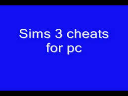 sims 3 cheat codes for pc youtube