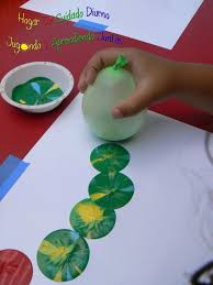 allow your little ones to have fun with balloon canvas painting