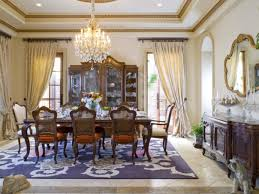 crystal dining room for luxurious impression. Excellent Dining Room Window Treatment Ideas Adding Beauty Aspect : Spacious Space Using High Crystal For Luxurious Impression