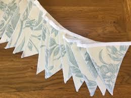 Laura Ashley Lloyd Duck Egg Blue Handmade Fabric Bunting 10 | Etsy
