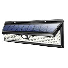 1000lm 118led solar lamp outdoor garden yard waterproof pir motion sensor light from unbranded